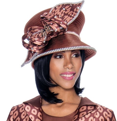 Terramina Hat 7703-Bronze - Church Suits For Less