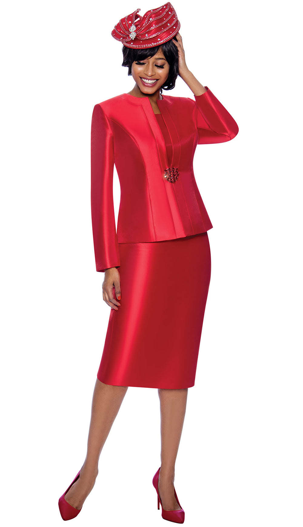 Terramina Suit 7874-Red - Church Suits For Less