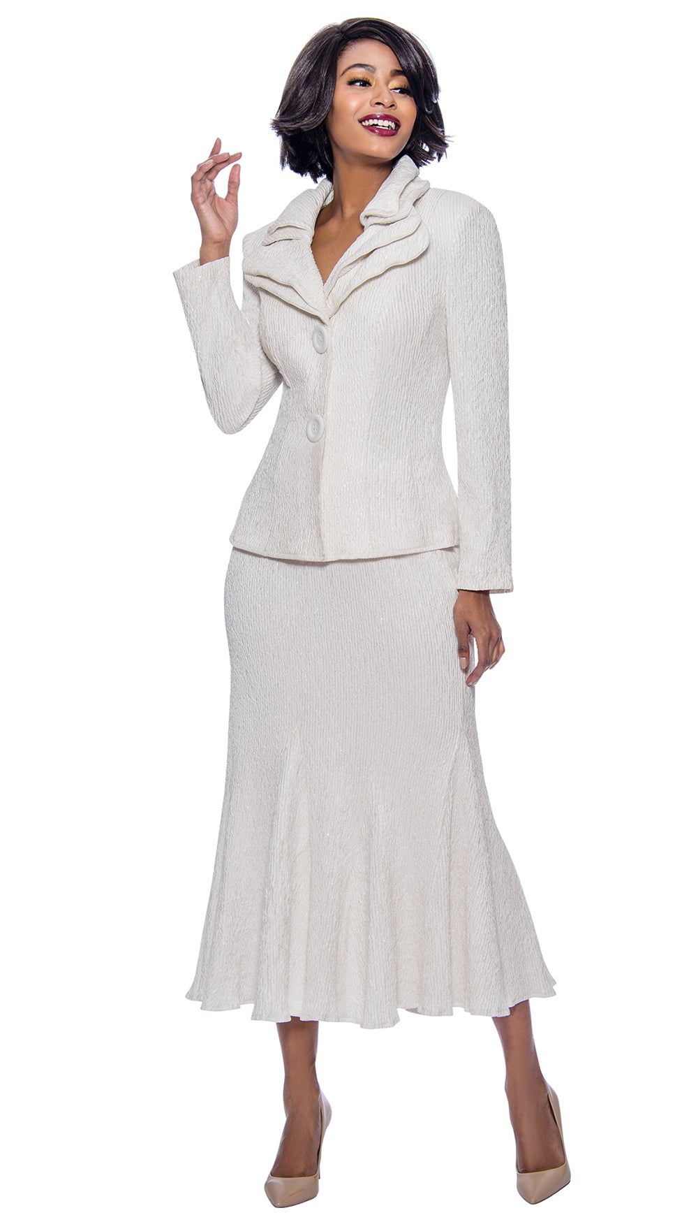 Terramina Suit 7656-White - Church Suits For Less