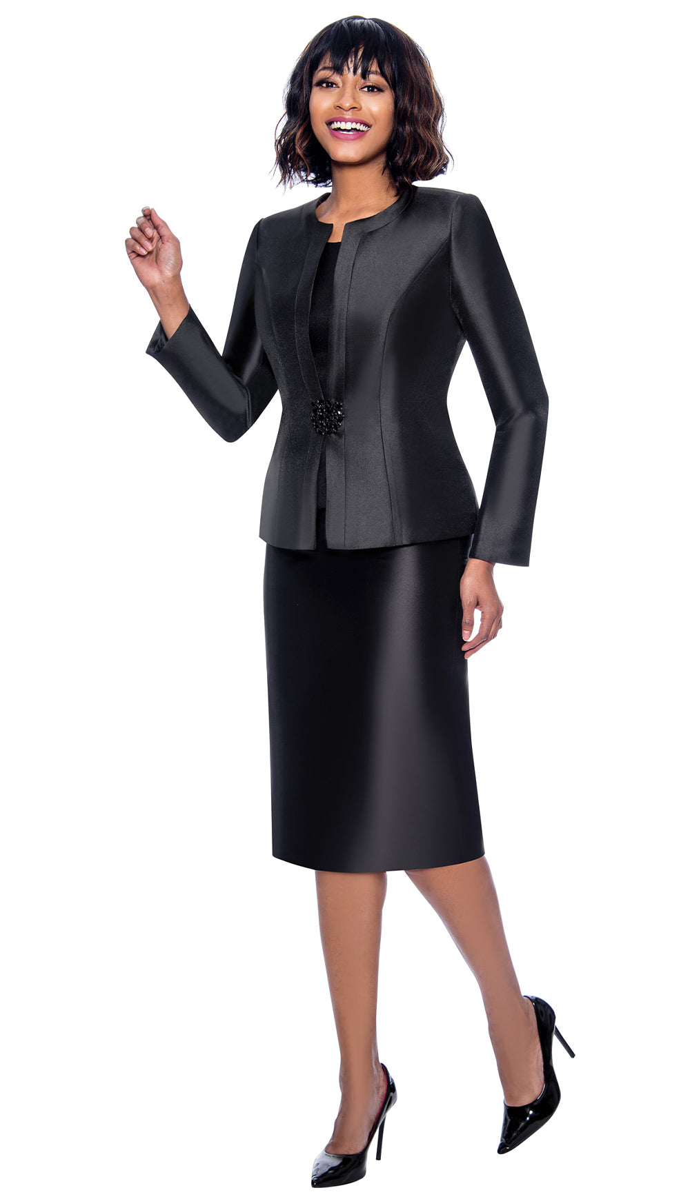 Terramina Suit 7854-Black - Church Suits For Less