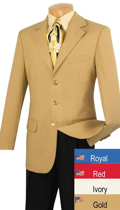 Vinci Men Blazer Z-3PP-Ivory - Church Suits For Less