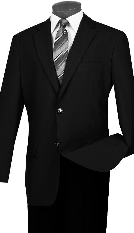 Vinci Sport Coat Z-2PP-Black - Church Suits For Less