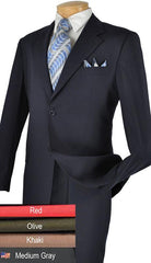 Vinci Suit 2PPC-Medium Gray - Church Suits For Less