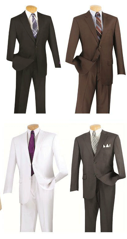 Vinci Men Suit 3PP-White - Church Suits For Less