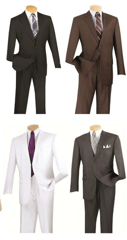Vinci Men Suit 3PP-White