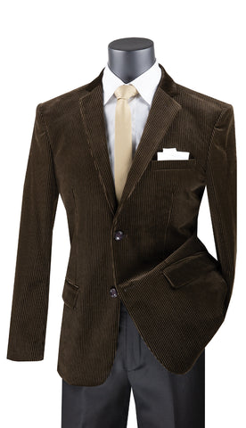 Vinci Sport Coat BCORD-1-Brown