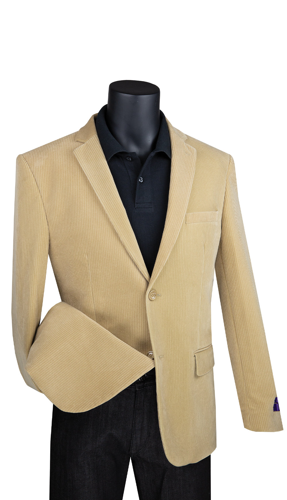 Vinci Sport Coat BCORD-1-Khaki - Church Suits For Less