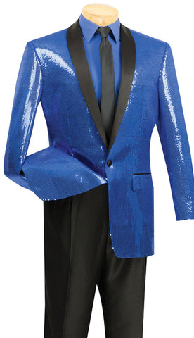 Vinci Men Suit BSQ-1-Blue