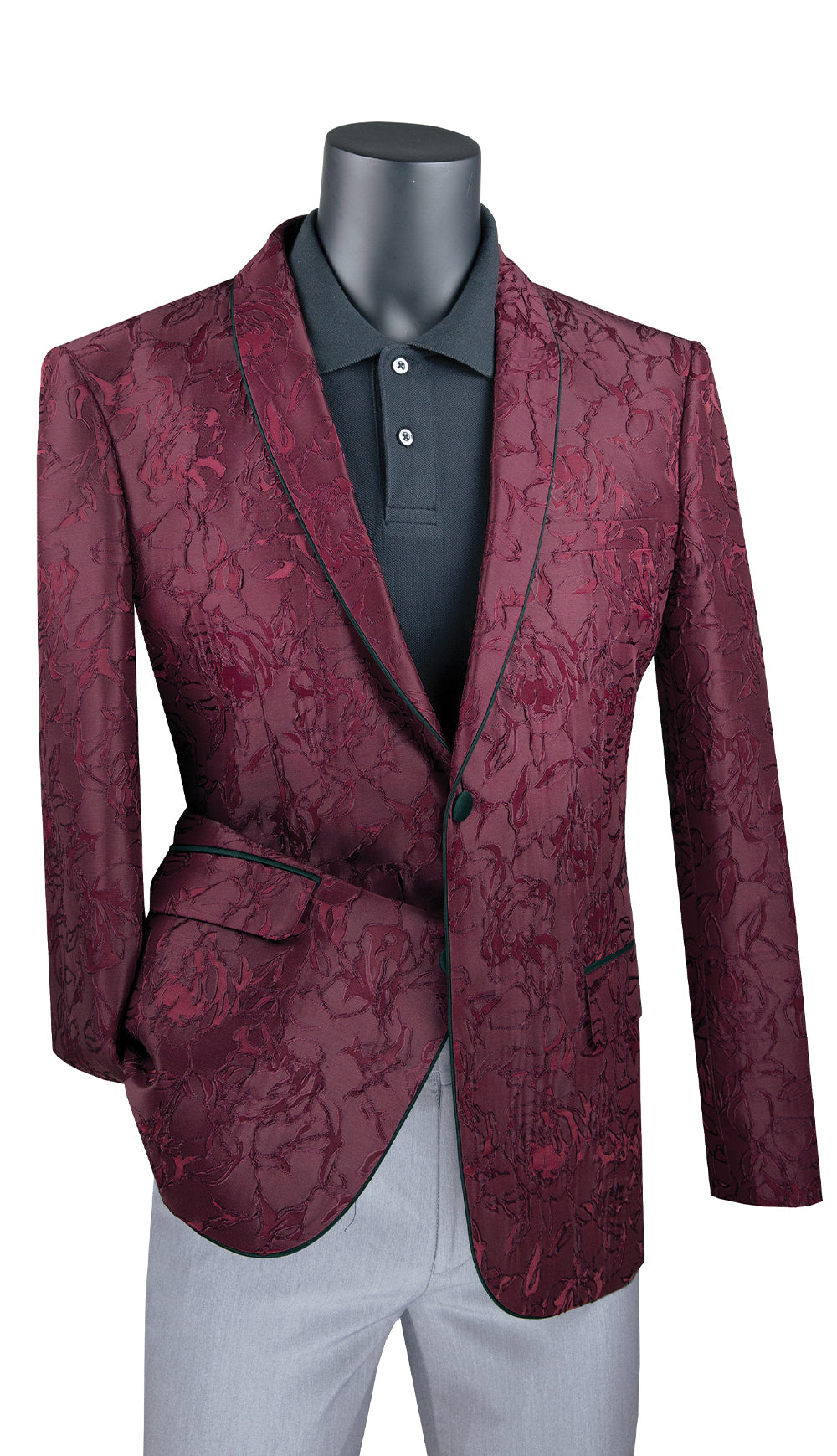 Vinci Sport Jacket BSF-10-Burgundy - Church Suits For Less