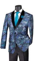 Vinci Sport Jacket BSF-11-Sapphire - Church Suits For Less