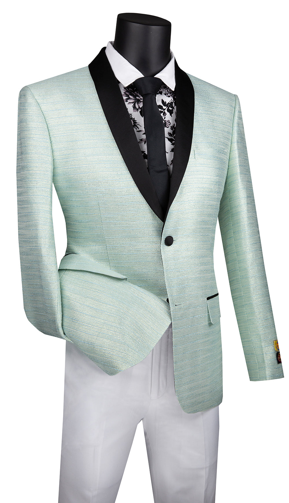 Vinci Sport Coat BSF-12-Pale Aqua - Church Suits For Less