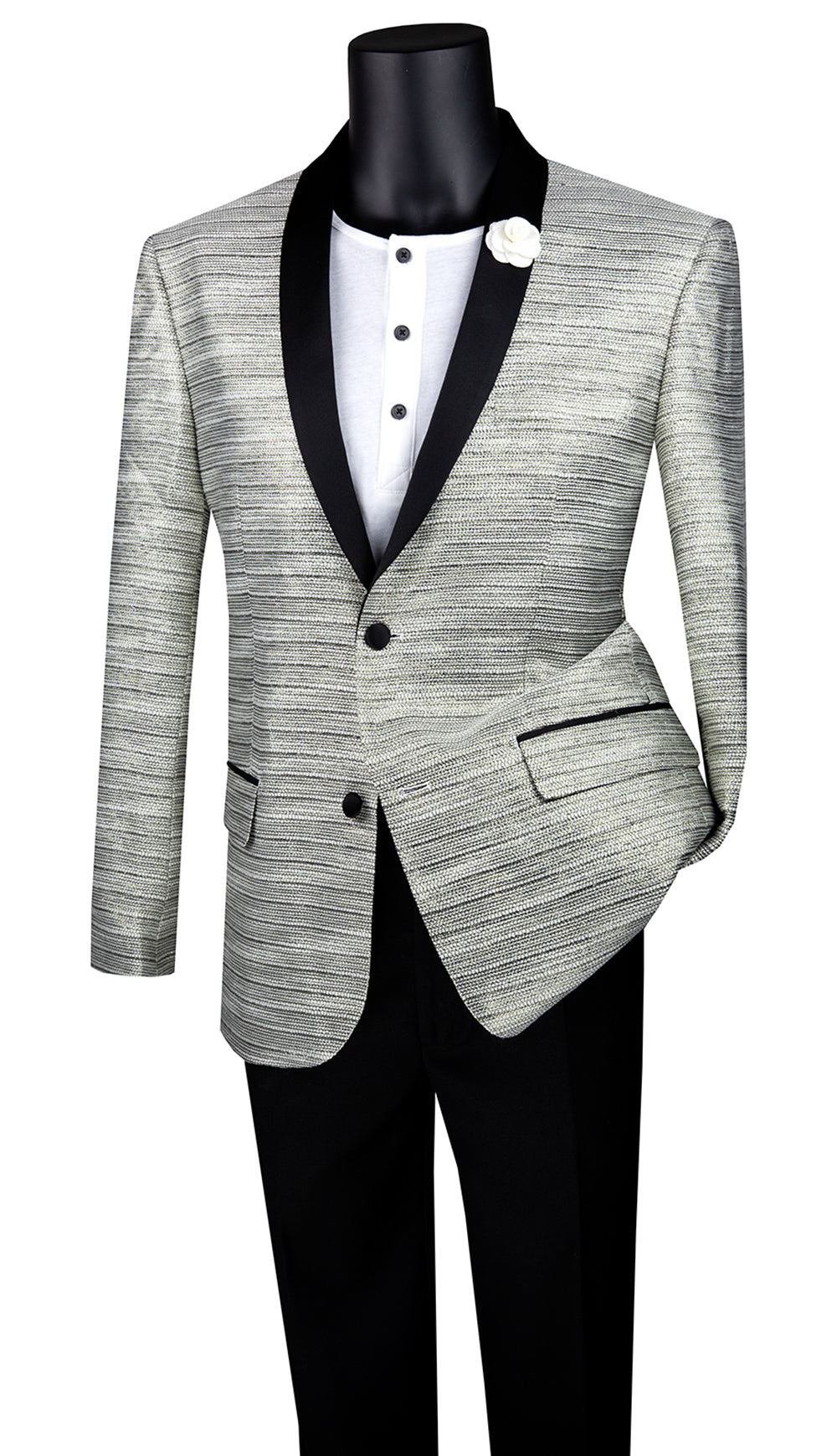 Vinci Sport Coat BSF-12-Silver - Church Suits For Less