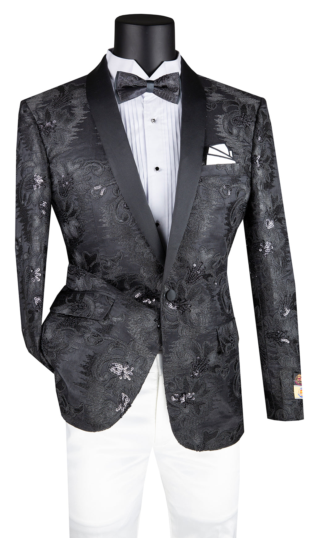 Vinci Sport Coat BSF-13-Black - Church Suits For Less