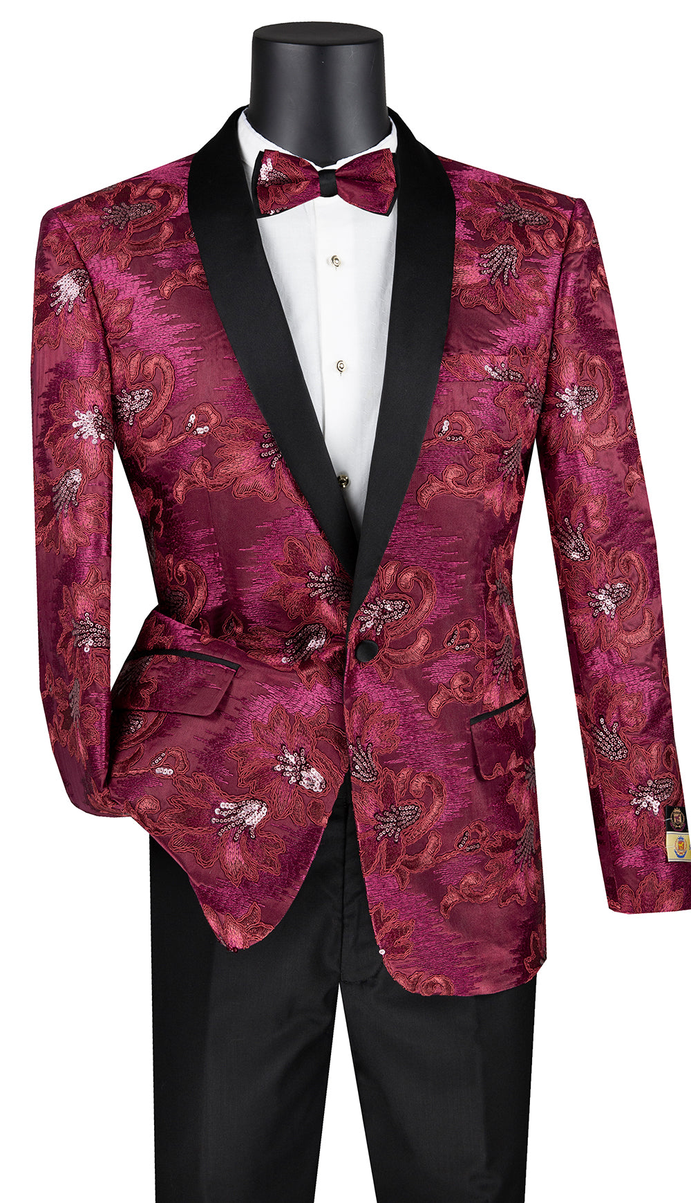 Vinci Sport Coat BSF-13-Burgundy - Church Suits For Less