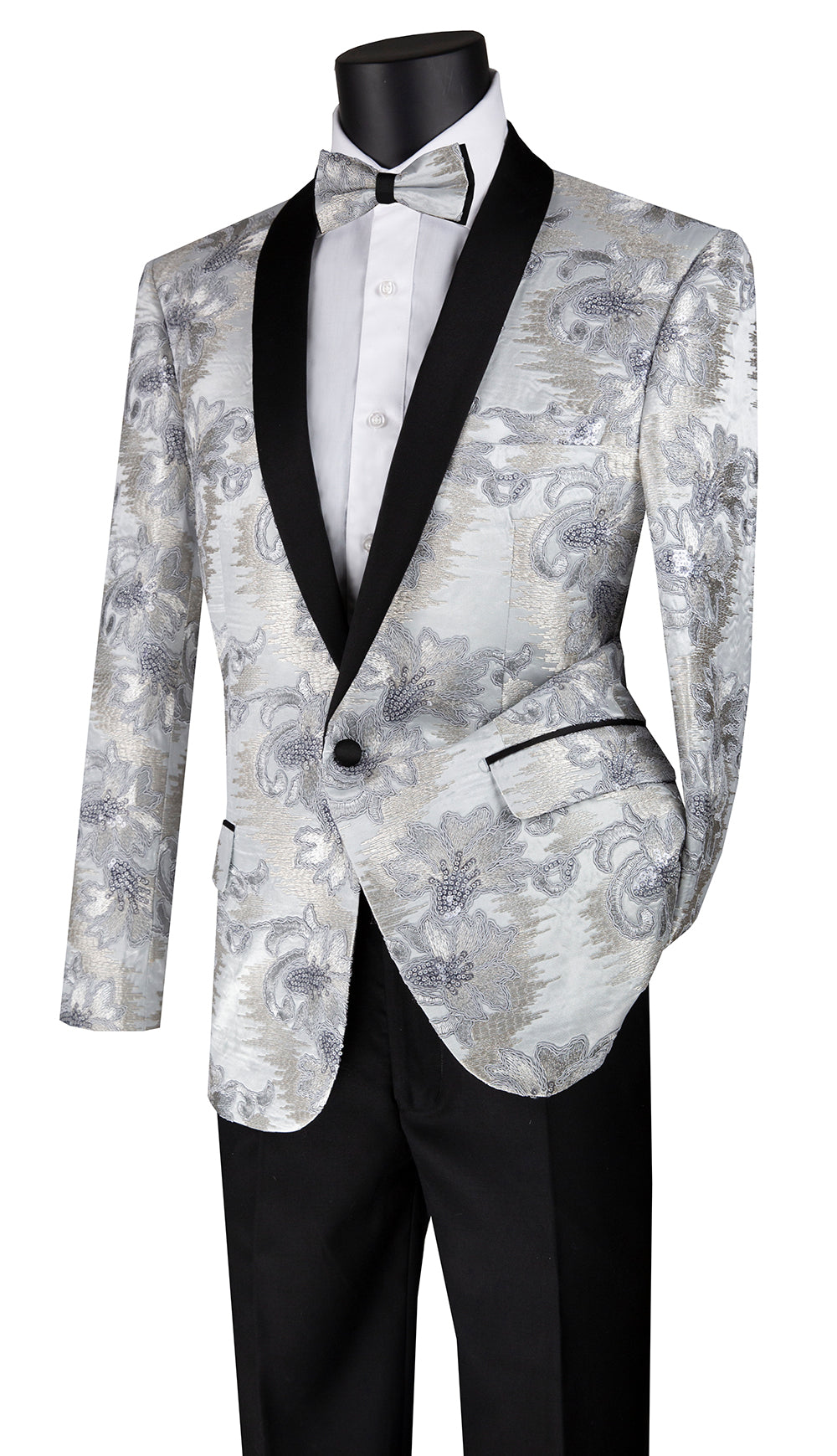 Vinci Sport Coat BSF-13-Silver - Church Suits For Less