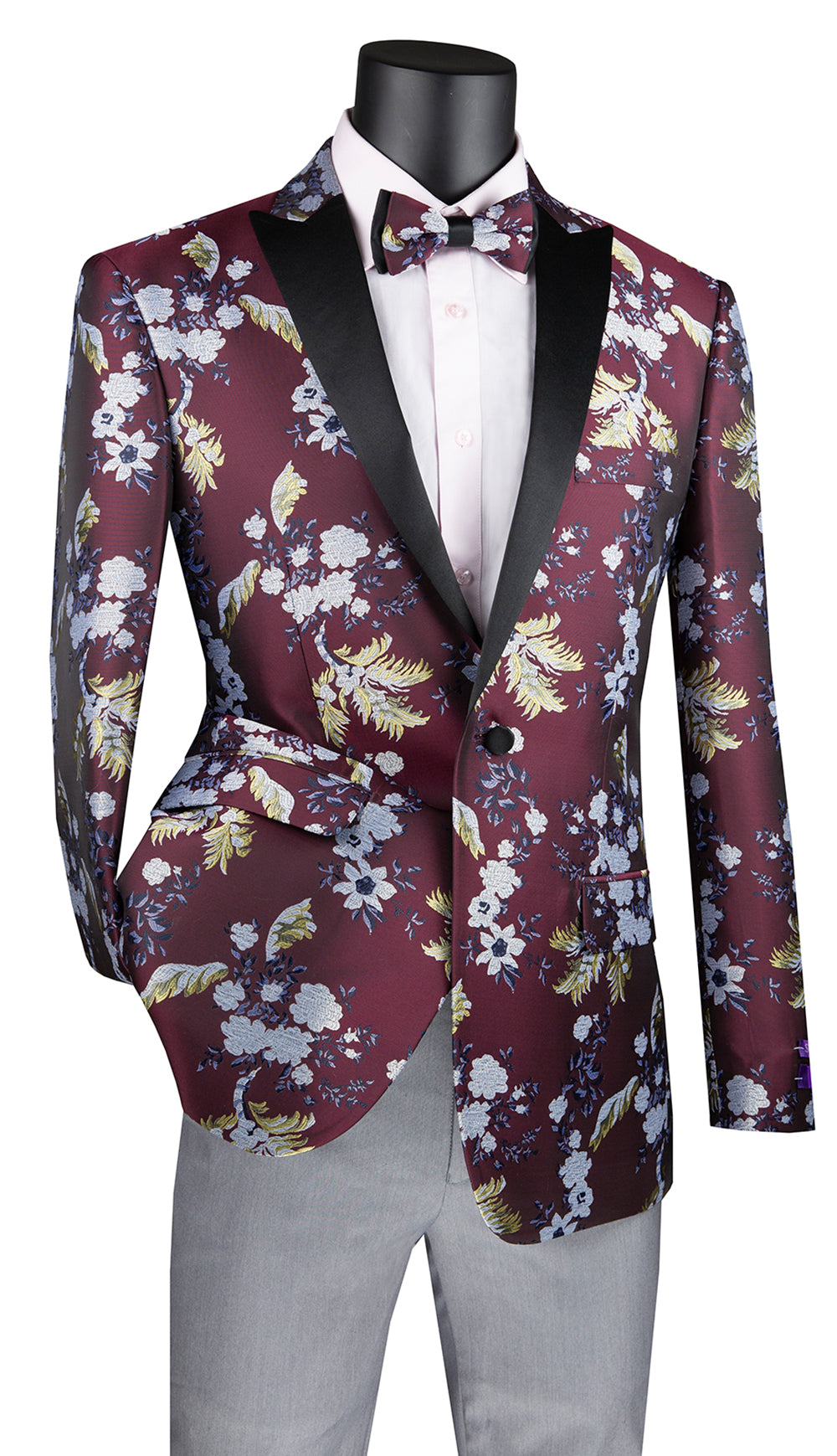 Vinci Sport Coat BSF-14-Burgundy - Church Suits For Less