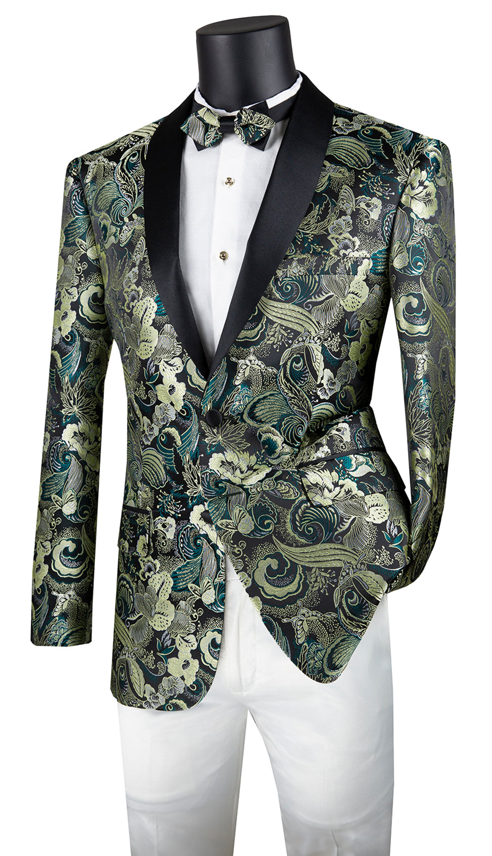 Vinci Sport Coat BSF-9-Green - Church Suits For Less