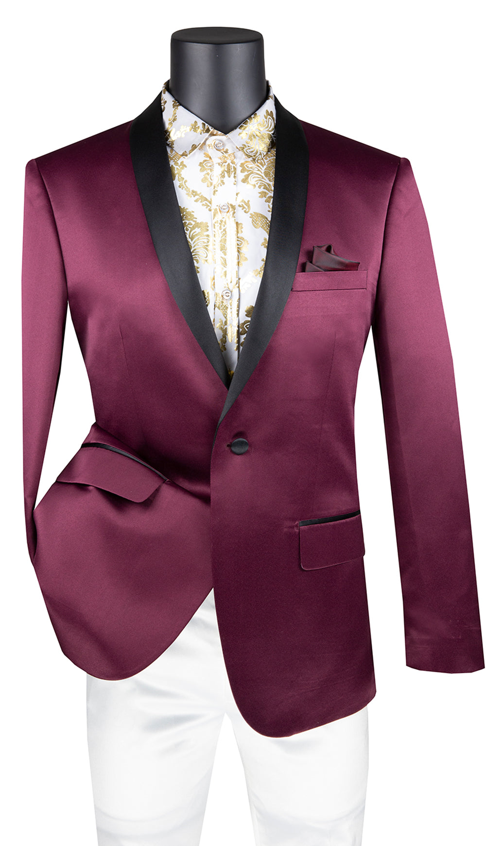 Vinci Sport Coat BST-1-Wine - Church Suits For Less