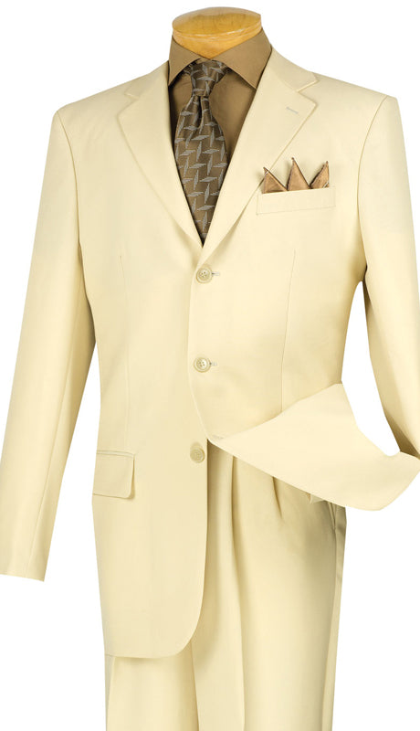 Vinci Men Suit 3PPC-Ivory - Church Suits For Less