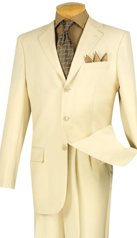 Vinci Men Suit 3PP-Ivory