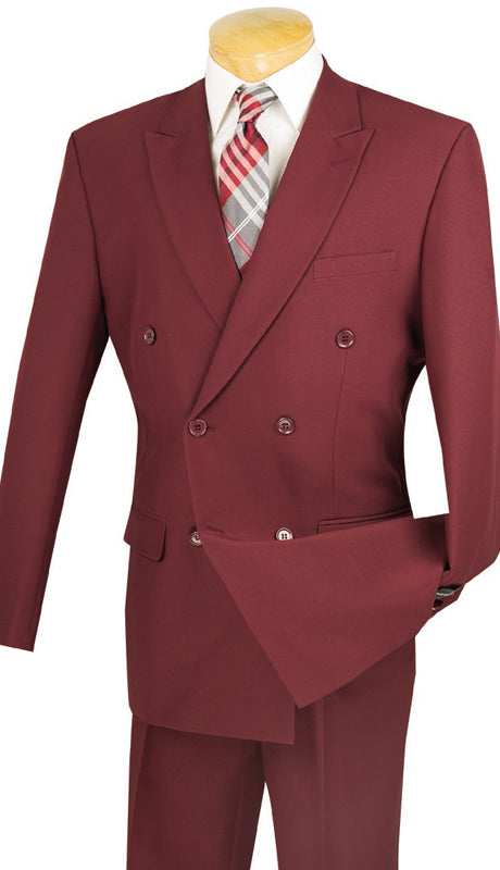 Vinci Suit DPP-Burgundy - Church Suits For Less