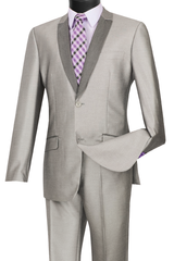 Vinci Suit S2PS-1-Gray - Church Suits For Less