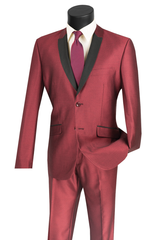 Vinci Suit S2PS-1-Maroon - Church Suits For Less