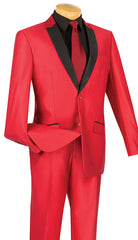 Vinci Suit S2PS-1-Red - Church Suits For Less
