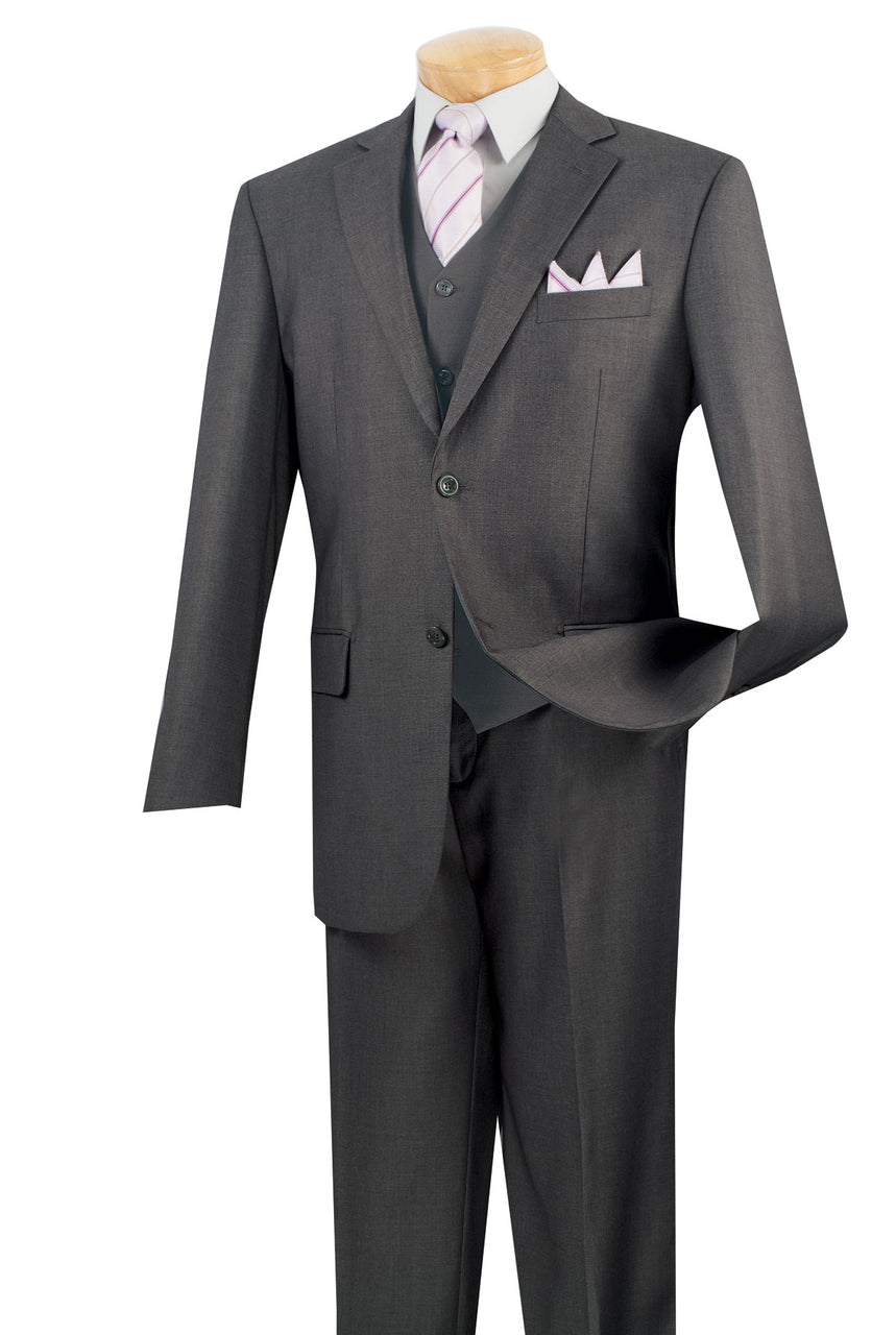 Vinci Suit V2TR-Heather Gray - Church Suits For Less
