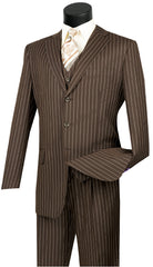 Vinci Suit V3RS-9C-Brown - Church Suits For Less