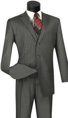 Vinci Suit V3RS-9-Medium Gray - Church Suits For Less