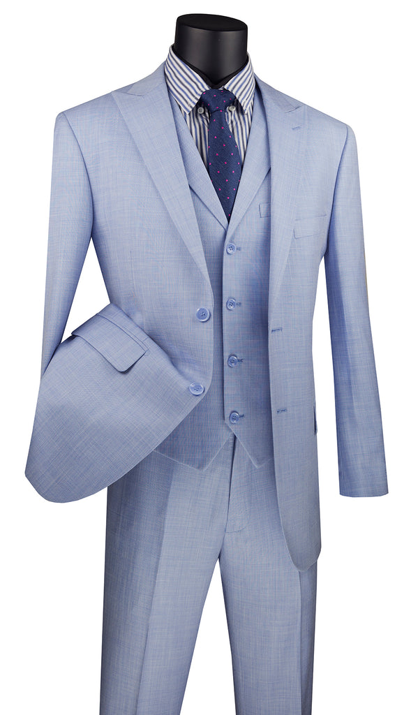 Vinci Suit MV2K-1-Light Blue - Church Suits For Less