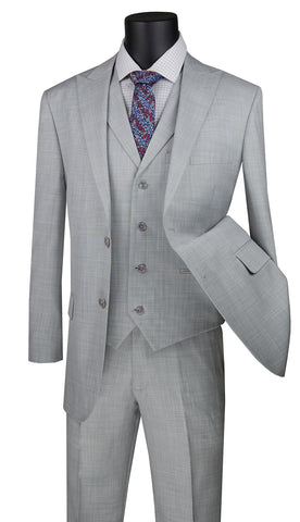 Vinci Suit MV2K-1-Silver - Church Suits For Less