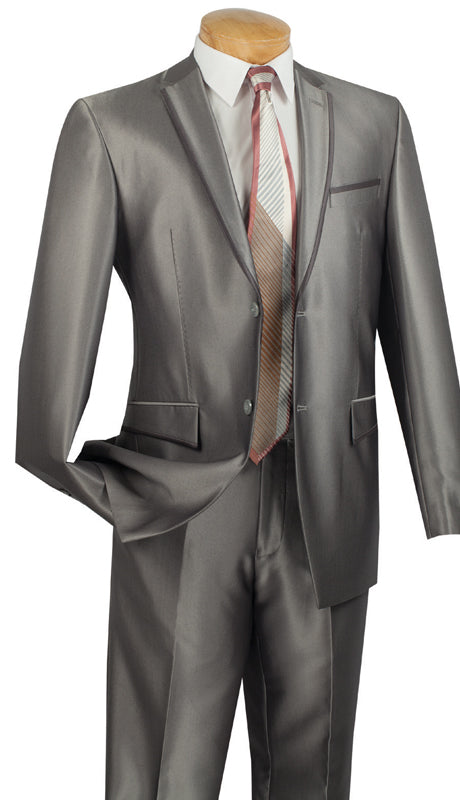 Vinci Men Suit S2RR-4-Gray - Church Suits For Less