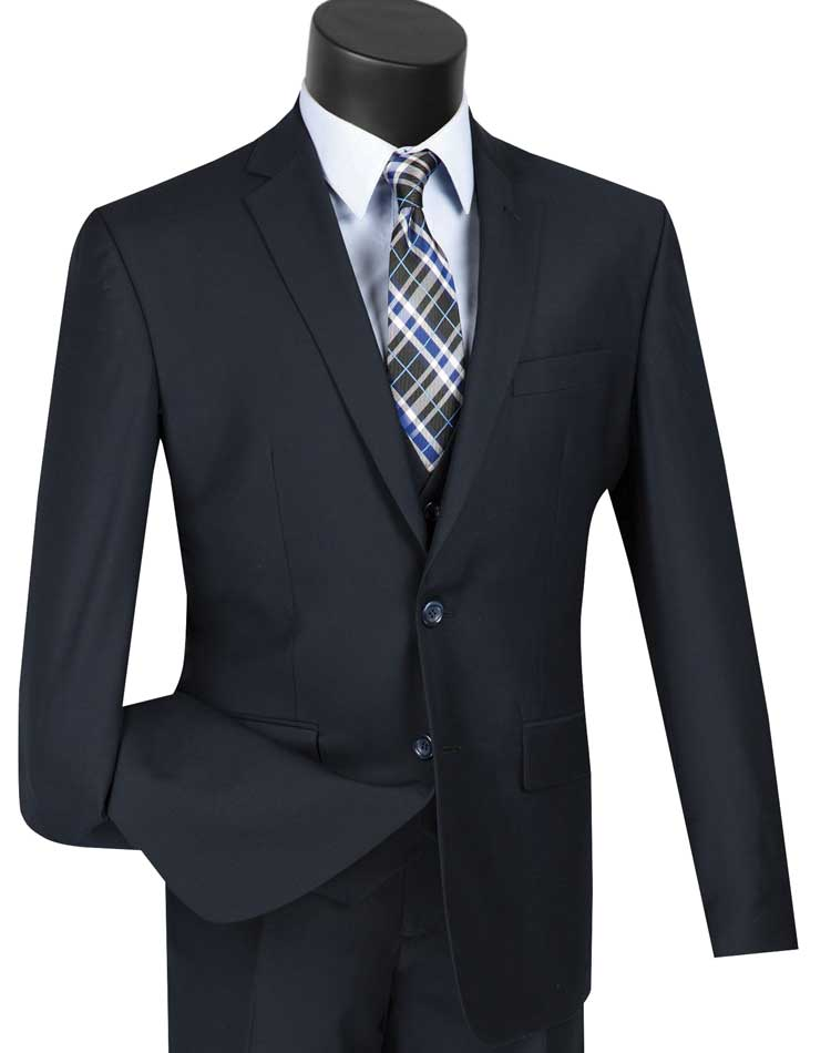 Vinci Suit SV2900-Navy - Church Suits For Less