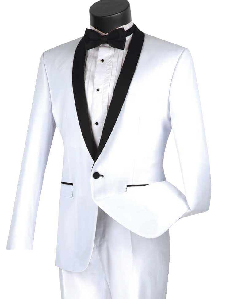 Vinci Tuxedo T-SS-White - Church Suits For Less
