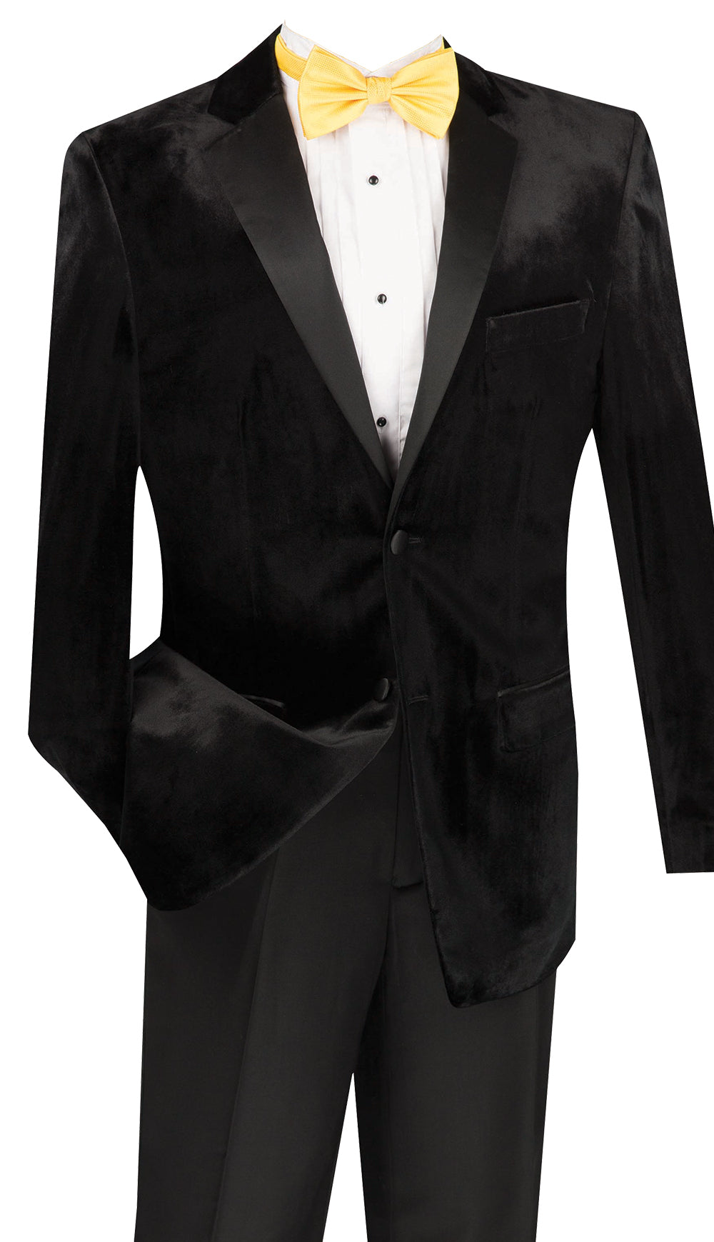 Vinci Tuxedo T-SV-Black - Church Suits For Less