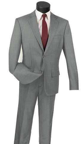 Vinci Men Suit 2WWP1-Grey - Church Suits For Less