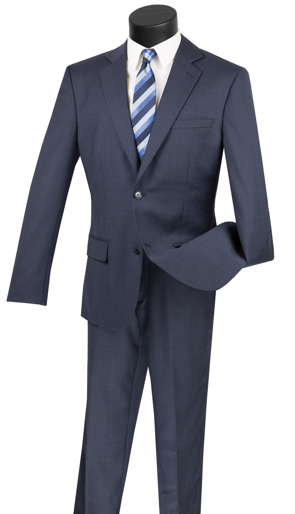 Vinci Men Suit 2WWP1-Navy - Church Suits For Less