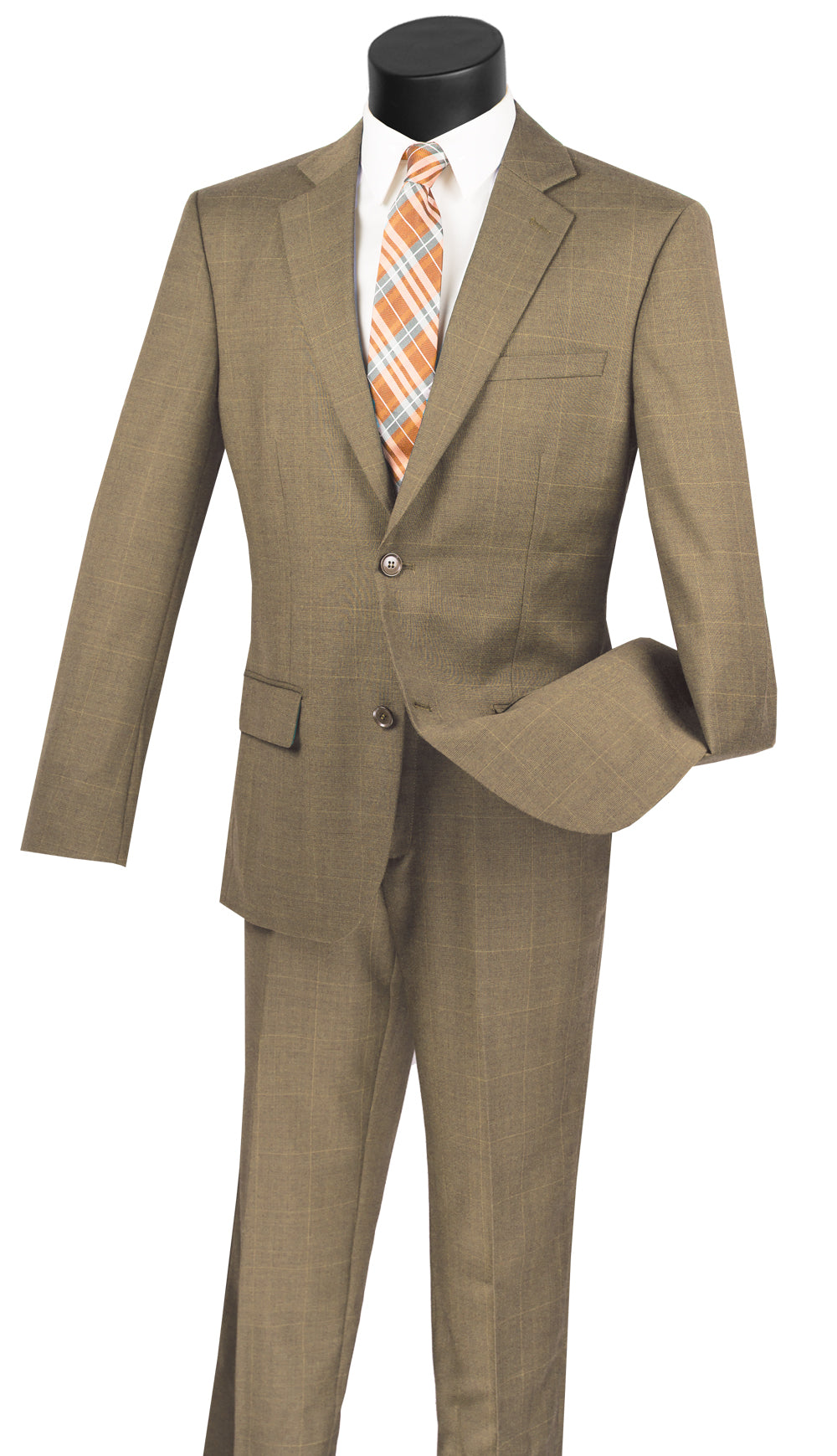 Vinci Men Suit 2WWP1-Taupe - Church Suits For Less