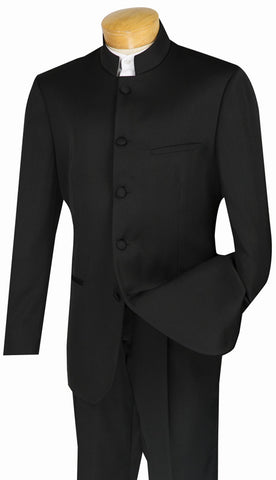 Vinci Men Suit 5HT-Black - Church Suits For Less