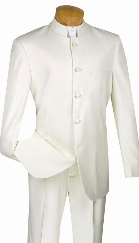 Vinci Men Suit 5HT-Ivory - Church Suits For Less