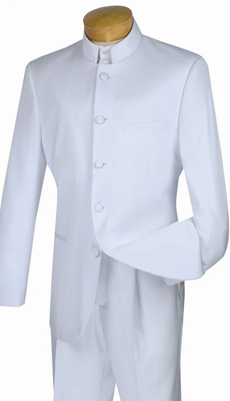 Vinci Men Suit 5HT-White - Church Suits For Less
