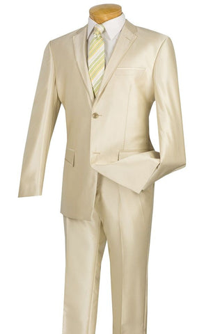 Vinci Men Suit S2RR-4-Beige - Church Suits For Less