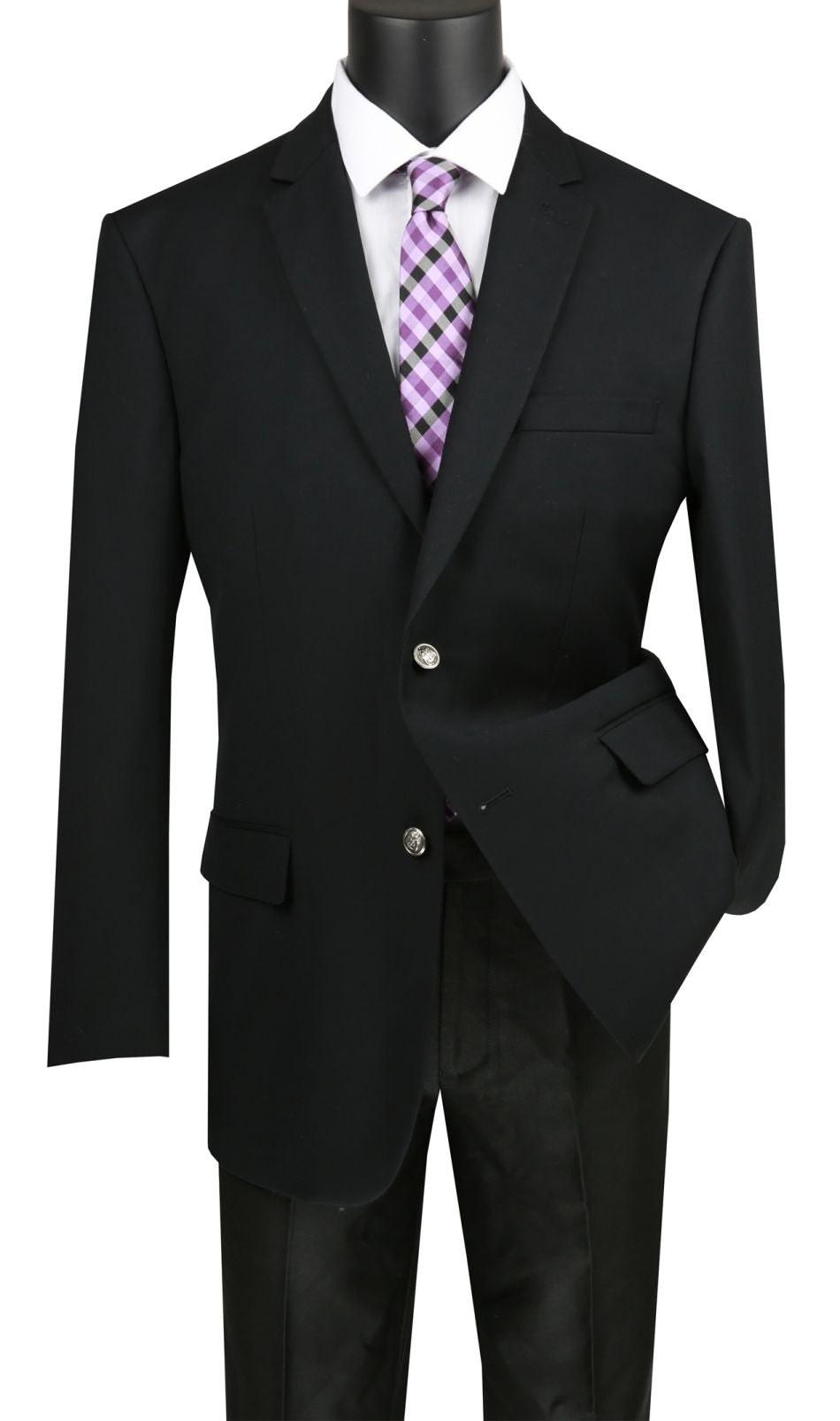 Vinci Men Sport Coat B-TR-Black - Church Suits For Less