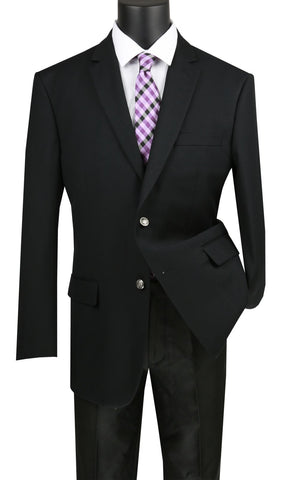 Vinci Men Sport Coat B-TR-Black