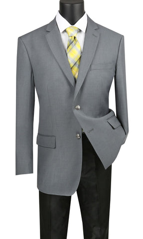 Vinci Men Sport Coat B-TR-Medium Gray