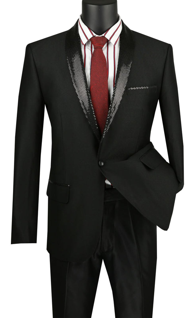 Vinci Men Sport Coat BSQ-3-Black - Church Suits For Less