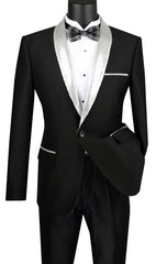 Vinci Men Sport Coat BSQ-3-Silver - Church Suits For Less