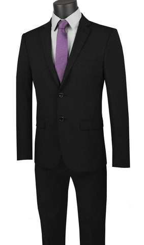 Vinci Men Suit USDX-1-Black - Church Suits For Less